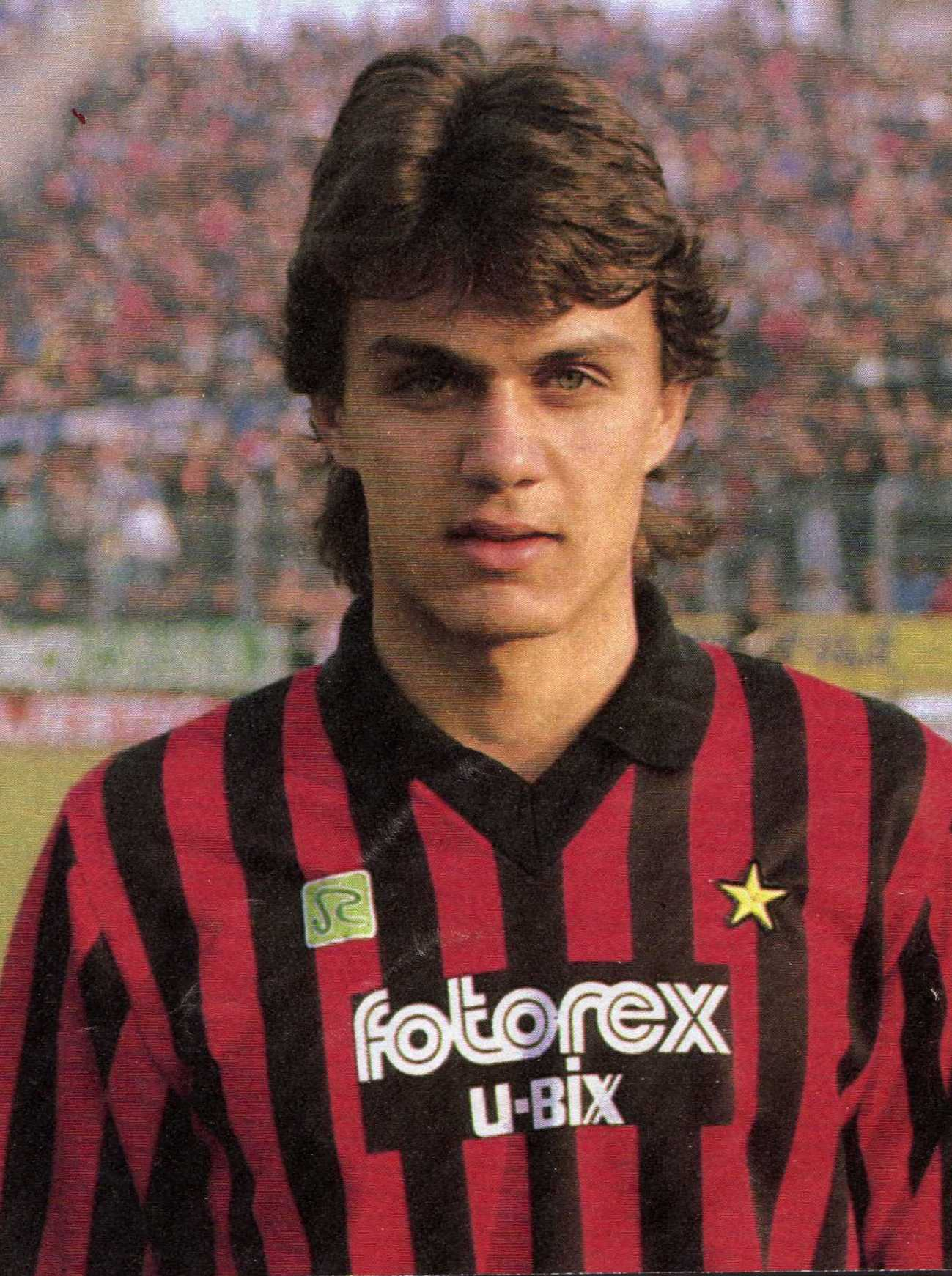 Paolo Maldini younger photo one at pinterest.com