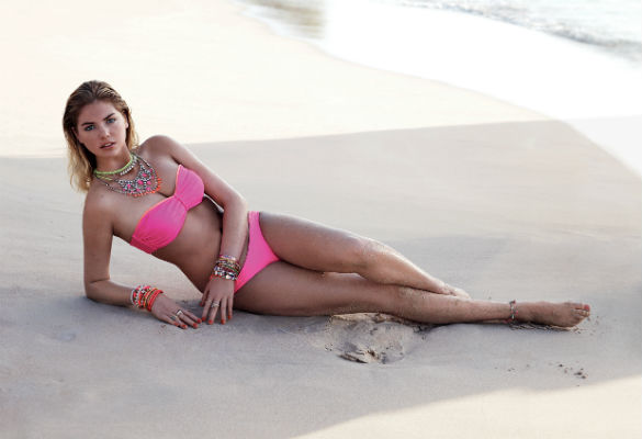 Kate Upton on a beach