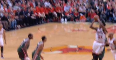 Jimmy Butler Converts Insane Bank Shot While Falling