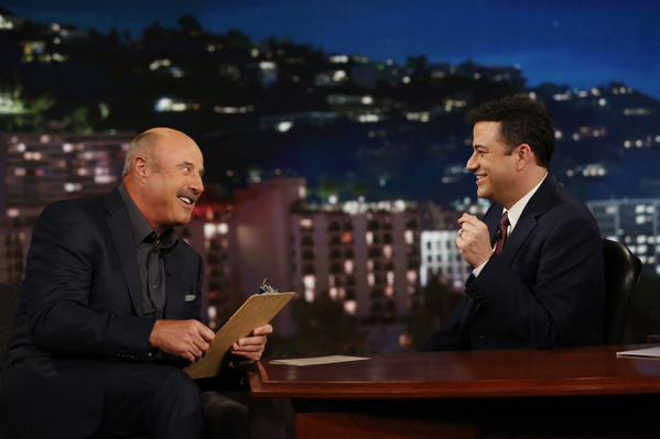The comments happened when Dr. Phil appeared on Jimmy Kimmel Live (Twitter/Dr. Phil)