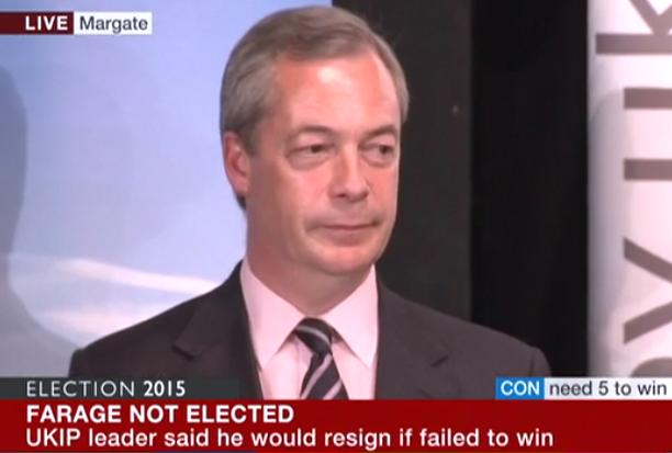 Nigel Farage losing face