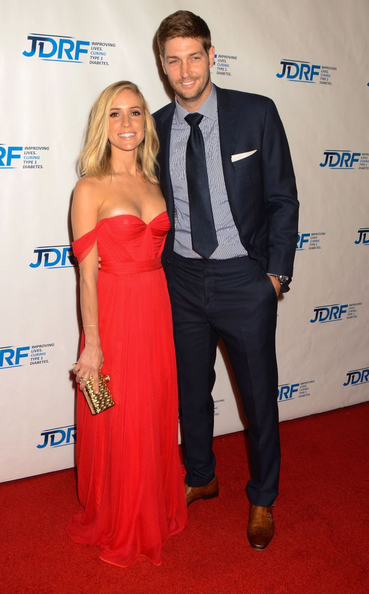 Kristin, shown with Jay on May 9, is not yet showing. (AdMedia / Splash News)