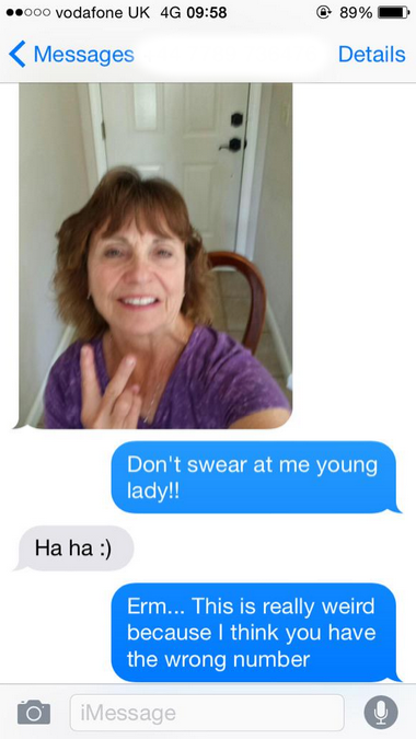 mother accidentally texts wrong number