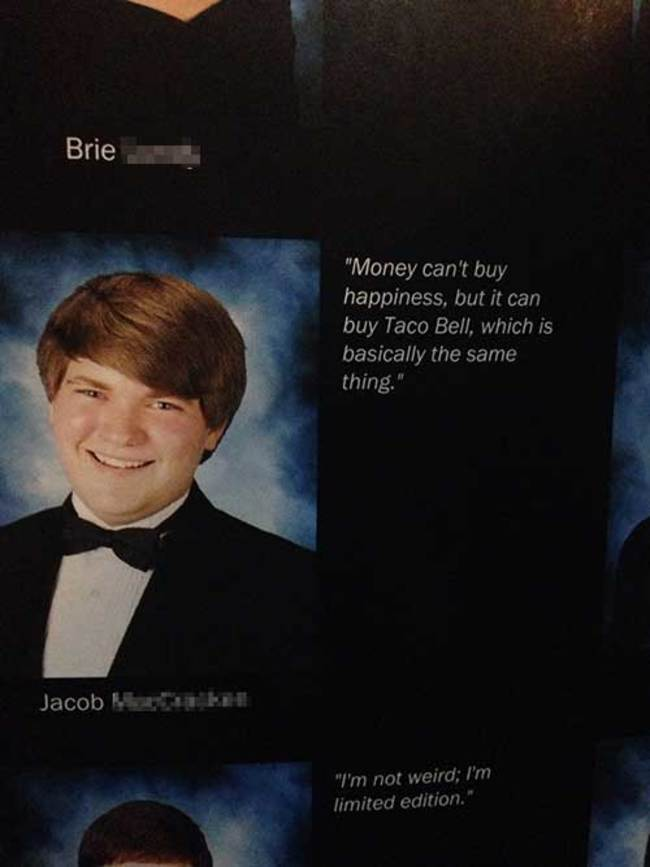 Seniors Who Won Their High School Yearbooks - 20 funny celebrity yearbook photos