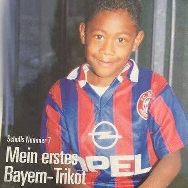 David Alaba childhood photo one at Reddit.com