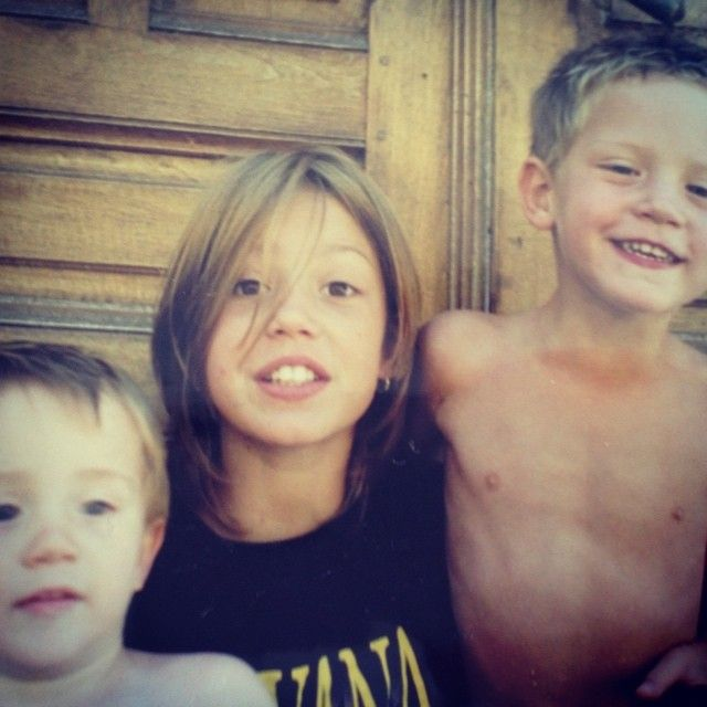 Adèle Exarchopoulos childhood photo two at pinterest.com