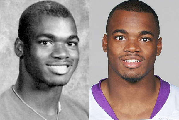 Adrian Peterson yearbook photo one at snakkle.com at snakkle.com