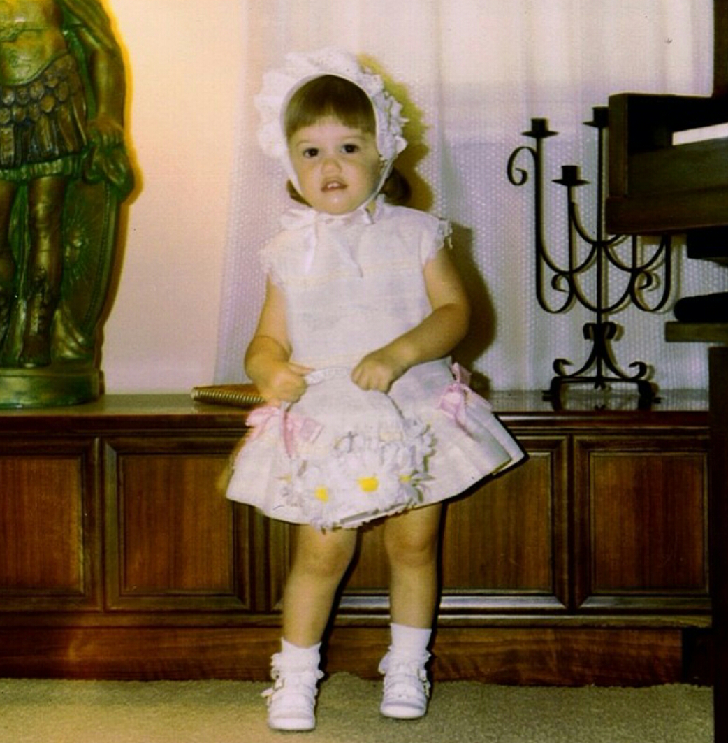 Gwen Stefani childhood photo two at wordpress.com
