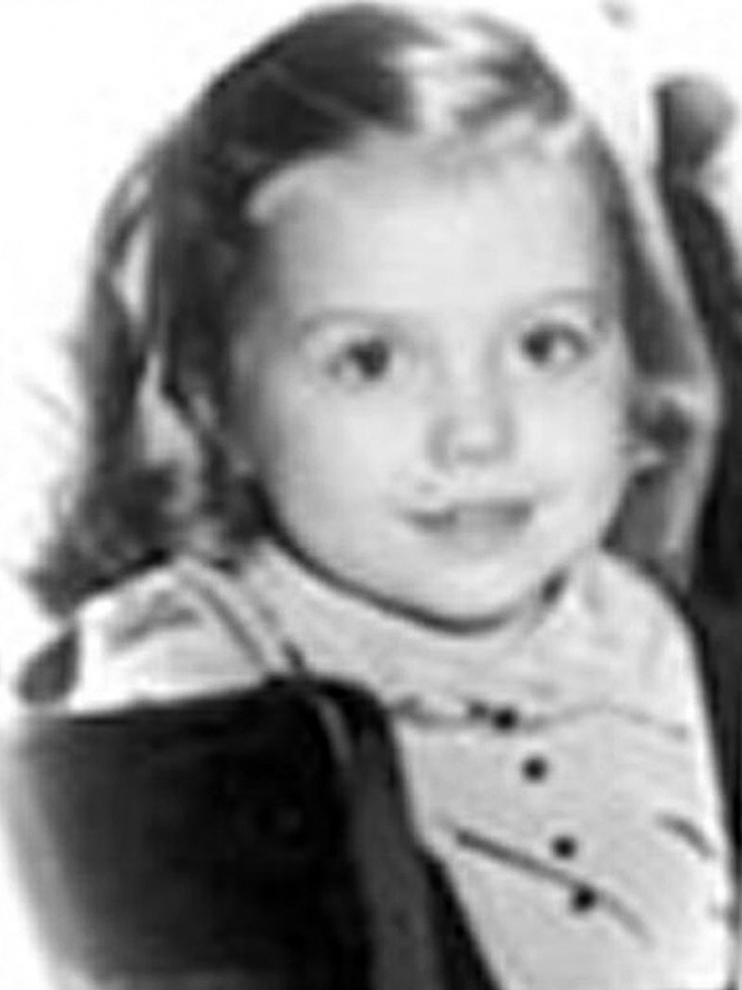 Hillary Clinton childhood photo one at pinterest.com