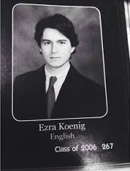 Ezra Koenig yearbook photo one at pinterest.com at pinterest.com