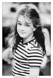 Brooke Shields childhood photo two at pinterest.com