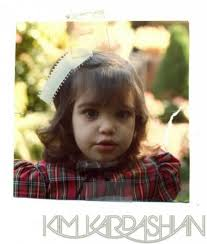 Kim Kardashian childhood photo one at celebuzz.com