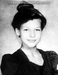 Milla Jovovich yearbook photo one at celebyearbookphotos.com at celebyearbookphotos.com