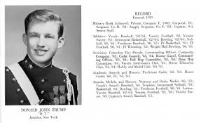 Donald Trump yearbook photo one at at