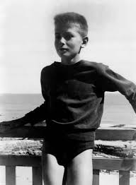 Alain Delon childhood photo one at pinterest.com