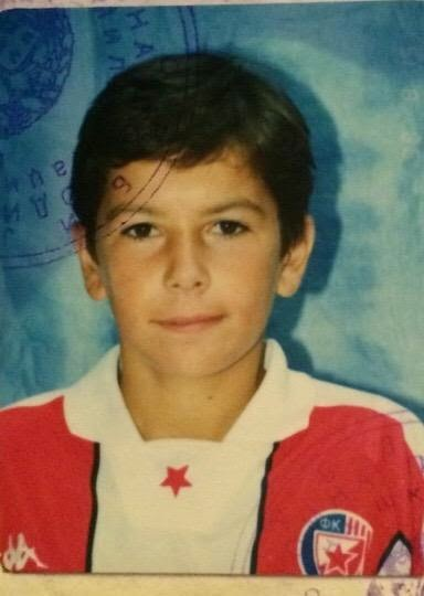 Aleksandar Kolarov childhood photo one at blogspot.com