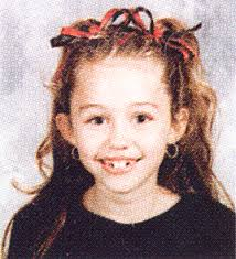 Miley Cyrus childhood photo one at snakkle.com