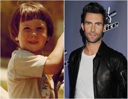 Adam Levine childhood photo two at pinterest.com