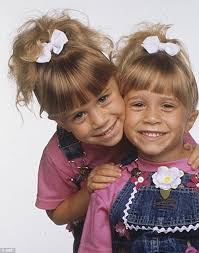 Mary Kate Olsen childhood photo two at dailymail.co.uk