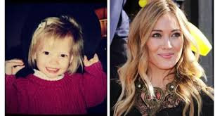 Hilary Duff kindertijd foto twee via pinterest.com