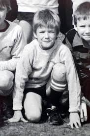 David Beckham childhood photo two at pinterest.com
