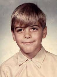 George Clooney childhood photo two at pinterest.com