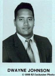 Dwayne Johnson yearbook photo one at reocities.com at reocities.com