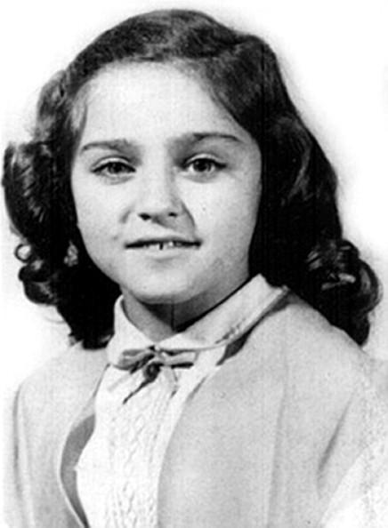 Madonna childhood photo two at Pinterest.com