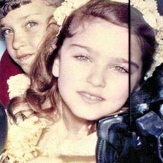 Madonna childhood photo three at Pinterest.com